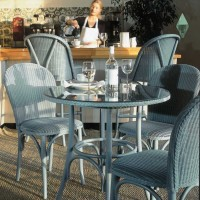 Lloyd Loom Bistro range of table and chairs