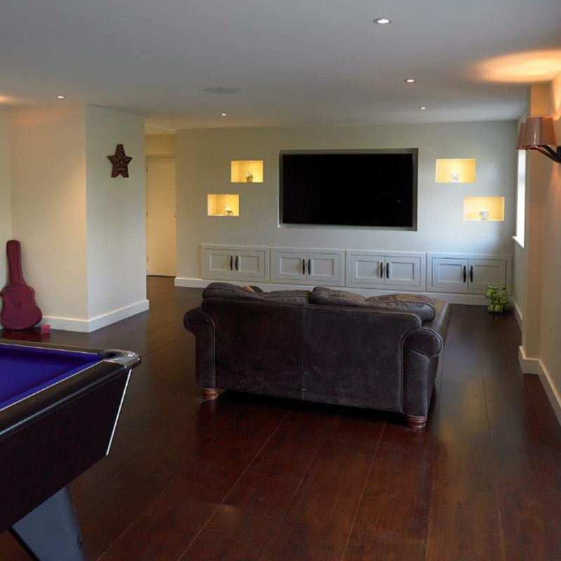 Storage solution for home cinema and games room | Wychwood English ...